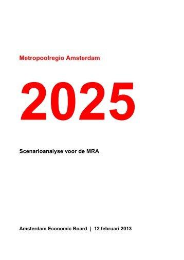 Scenarioanalyse MRA - I amsterdam
