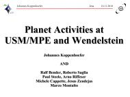 Planet projects at the new Wendelstein 2m telescope