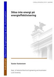 Slösa inte energi på energieffektivisering - IEA - Lunds Tekniska ...