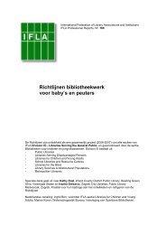 Richtlijnen bibliotheekwerk voor baby's en peuters - IFLA