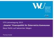 """IFIP-Jahrestagung 2013 """"Smarte"""" Finanzpolitik für Österreichs ..."""