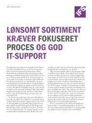 lønsomt sortiment kræver fokuseret proces og god it-support - IFS