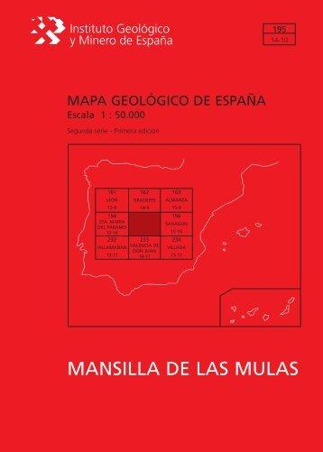 MANSILLA DE LAS MULAS - Instituto Geológico y Minero de España