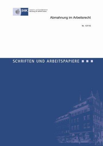 Abmahnung im Arbeitsrecht - IHK Nürnberg für Mittelfranken
