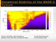 The dynamics of the transiting planetary system WASP