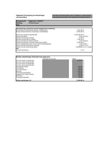 Afdeling: Direkte omkostninger forbundet med opgaverne Da - IKA.dk