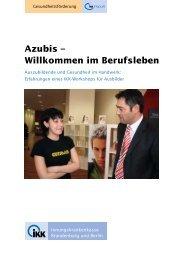 Azubis – Willkommen im Berufsleben - IKK Brandenburg und Berlin