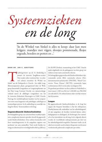 Systeemziekten en de long - Ildcare.nl