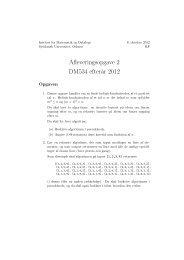Afleveringsopgave 2 - Institut for Matematik og Datalogi - Syddansk ...