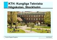 KTH: Kungliga Tekniska Högskolan, Stockholm