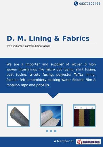 D. M. Lining & Fabrics, Noida - Importer & Supplier of ... - IndiaMART