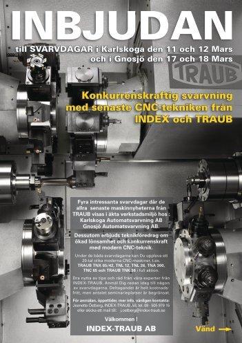 Konkurrenskraftig svarvning med senaste CNC-tekniken från INDEX ...