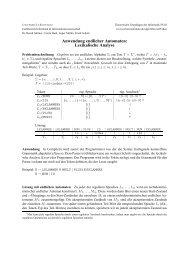 Anwendung endlicher Automaten: Lexikalische Analyse