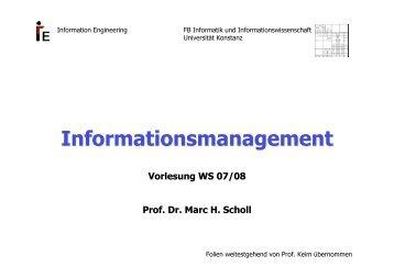 Informationsmanagement - Fachbereich Informatik ...