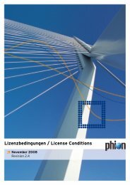 phion Licence Conditions – November 2008 - Info-Point-Security
