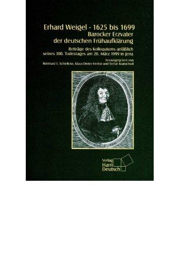 Erhard Weigel – 1625 bis 1699 - Astrophysikalisches Institut und ...