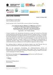 Programm zum High Level Hearing - INKOTA-netzwerk eV