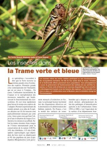 La Trame verte et bleue / Insectes n° 161 - Inra