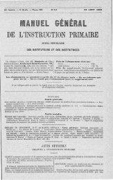 DE L'INSTRUCTION PRIMAIRE - INRP