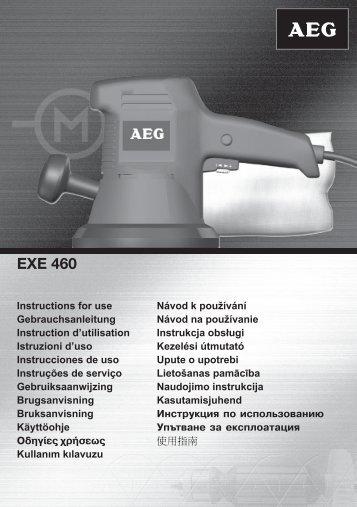 AEG-EXE460 - Download Instructions Manuals