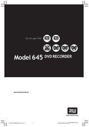 Installera DVD-inspelaren (forts.) - Download Instructions Manuals