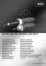 AEG-GSL600E - Download Instructions Manuals