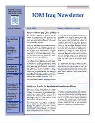 IOM Iraq Newsletter - Internal Displacement Monitoring Centre