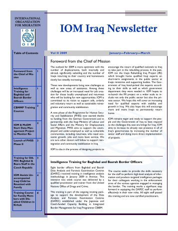 IOM Iraq Newsletter - Internal Displacement Monitoring Centre