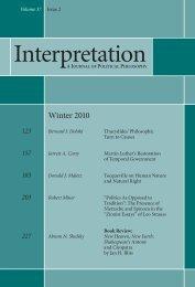 Winter 2010 - Interpretation