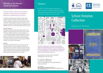 School Histories Collection - Institute of Education, University of ...