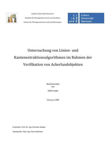 Bachelorarbeit - Institut für Photogrammetrie und GeoInformation ...