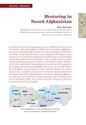 Mentoring in Noord-Afghanistan