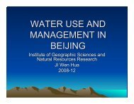 Water Use and Management in Beijing