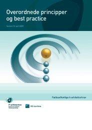 Overordnede principper og best practice - IT- og Telestyrelsen