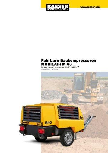 Fahrbare Baukompressoren MOBILAIR M 43