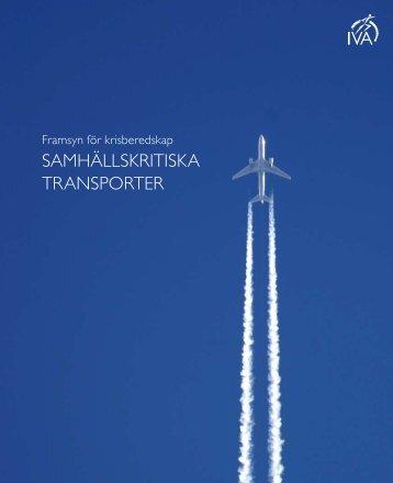 Samhällskritiska transporter (pdf) - IVA