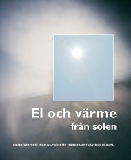 El och värme från solen - IVA