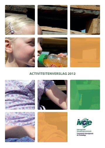 ActiviteitenverslAg 2012 - Interregionale Verpakkingscommissie