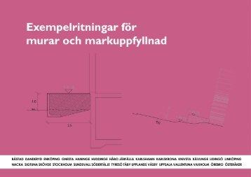 Exempelritningar för murar och markuppfyllnad - Järfälla