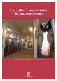 Praktisk guide till hästhållning med kvalitet - Jordbruksverket