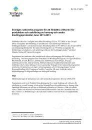 Sveriges nationella program för att förbättra villkoren - Jordbruksverket
