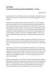 Jytte Møller: Jordemoderkundskab og jordemoderfaglighed - et essay