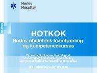 HOTKOK - Herlev obstetrisk teamtræning og kompetencekursus