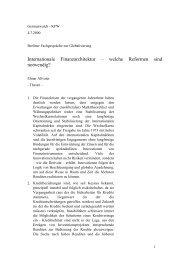 Altvater, Globalisierung