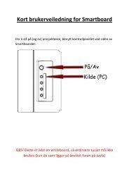 Kort brukerveiledning for Smartboard