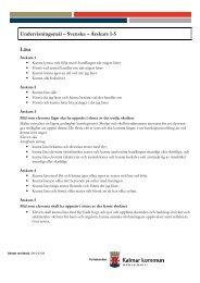 Undervisningsmål – Svenska – Årskurs 1-5 Läsa