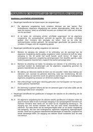De integrale tekst van het huishoudelijk reglement van de sportraad ...