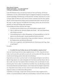1 Hans-Martin Gutmann Kapital und Glaube – wer regiert die Welt ...