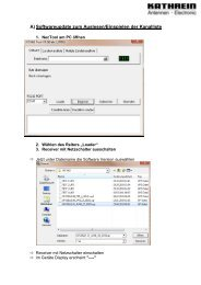 A) Softwareupdate zum Auslesen/Einspielen der Kanalliste - Kathrein