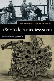 1800-talets mediesystem - Kungliga biblioteket